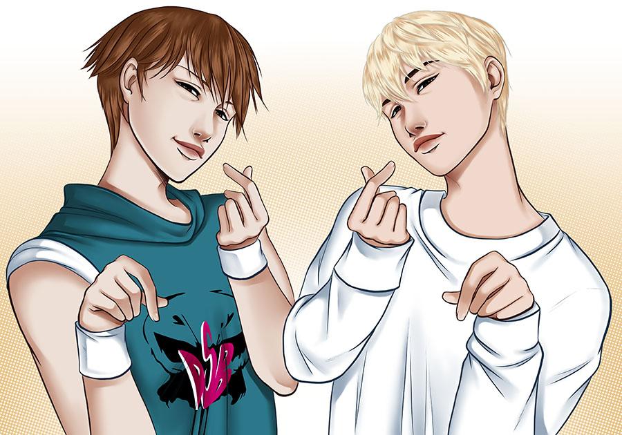 Shou et Baekhyun