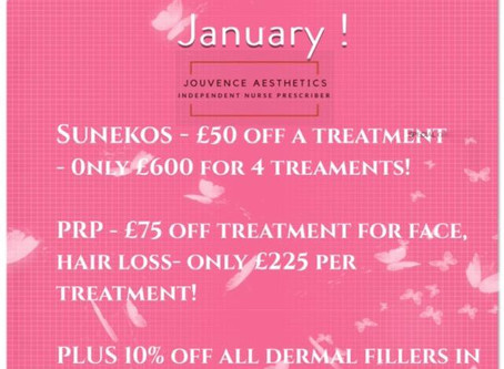 SPECIAL OFFERS FOR JANUARY 2020