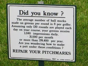 1,040 Ball Mark Impressions on YOUR Home Course... Daily!!!