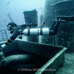 Sidemount Diver in Action