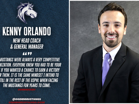 Kenny Orlando Named Head Coach of the Ogden Mustangs