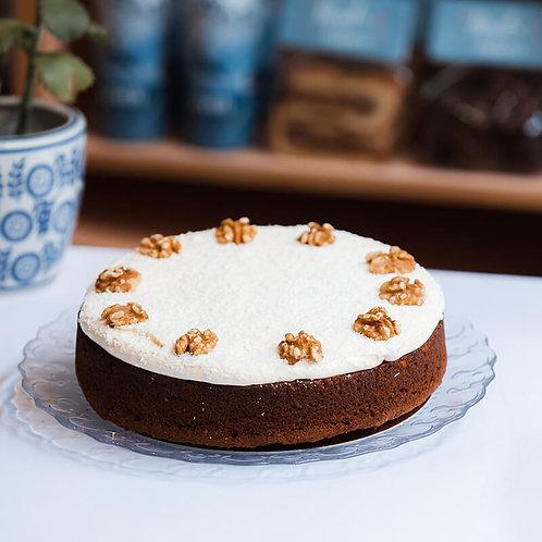 Carrotcake met citroentopping en kokos