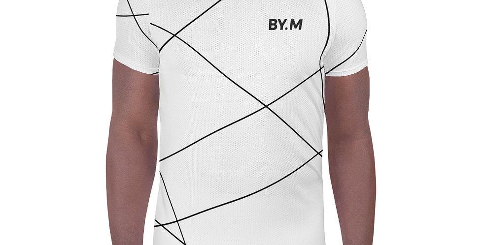White Athletic T-shirt Stripe black
