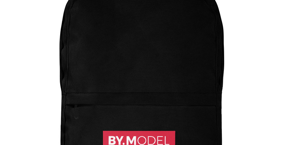 Black backpack BY.MODEL Red