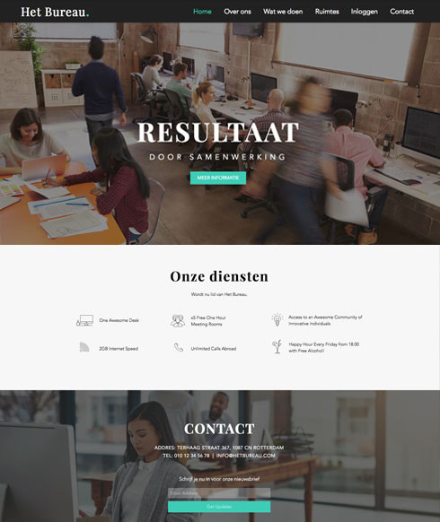 Corporate website Wix