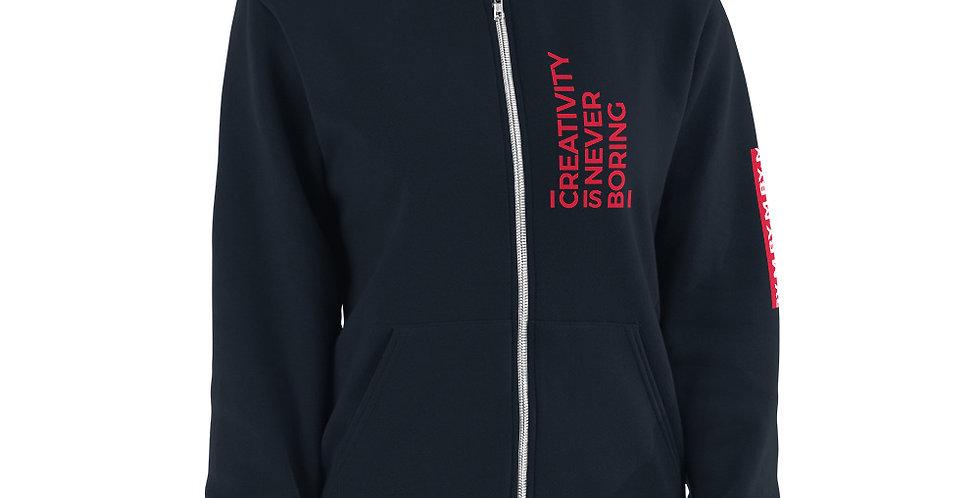 Blue sweat jacket C.I.N.B Red