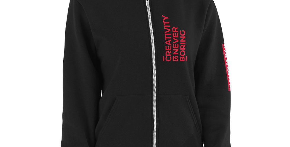 Black sweat jacket C.I.N.B Red