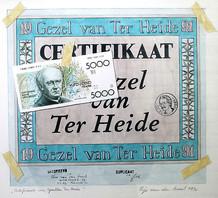 De eerste Gezel van Ter Heide: een kunstwerk met een briefje van 5000 frank in de hoofdrol