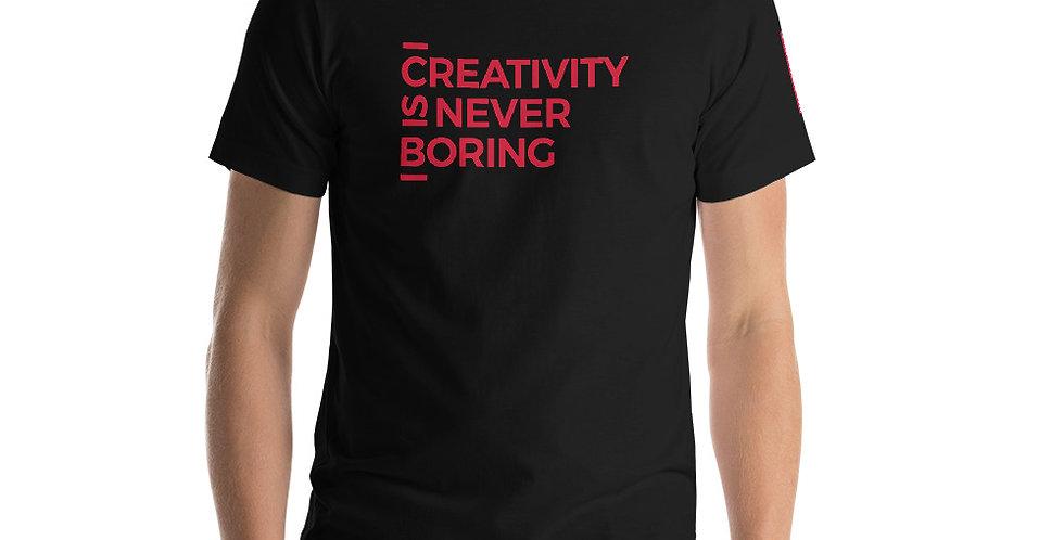 Black t-shirt C.I.N.B. Red