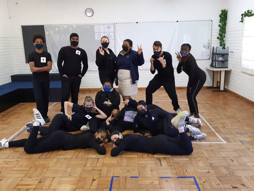 Matrics perform Final Drama Prac