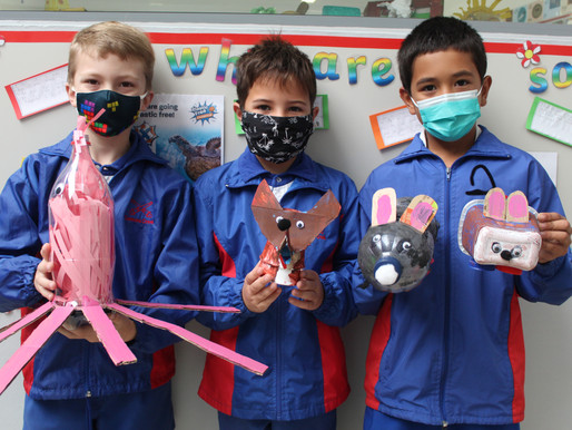 Pupils learn about recycling through Art projects