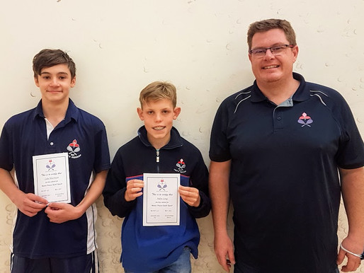 Cannons squash players receive WP Colours