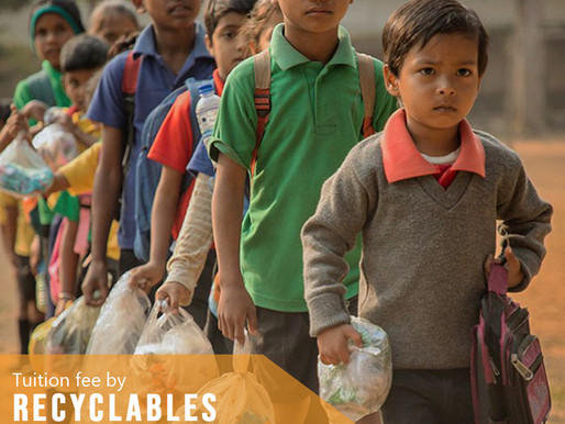 Collecting school fees with plastic bottles, plastic bags, the school changed the whole town.