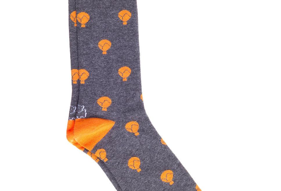 Calcetines caña corta de hombre Kiff Kiff grises