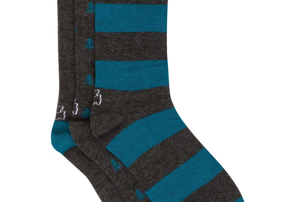 Pack de tres pares de calcetines de media caña fantasia marengo y azul