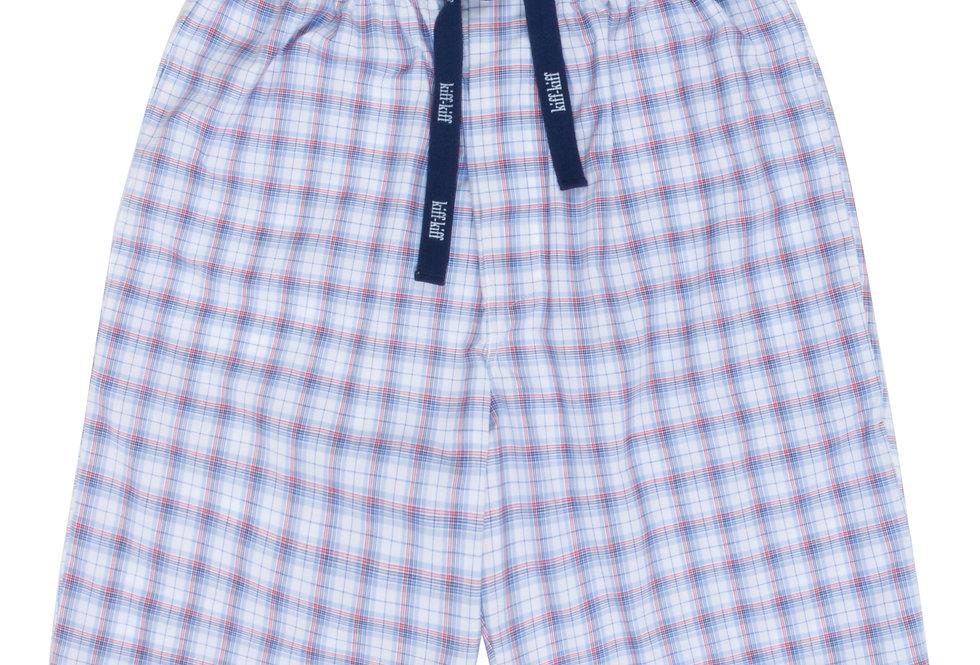 Pantalón de pijama corto de hombre Kiff Kiff de tela blanco