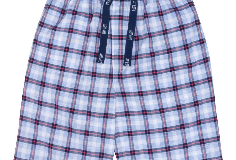Pantalón de pijama corto de hombre Kiff Kiff de tela azul