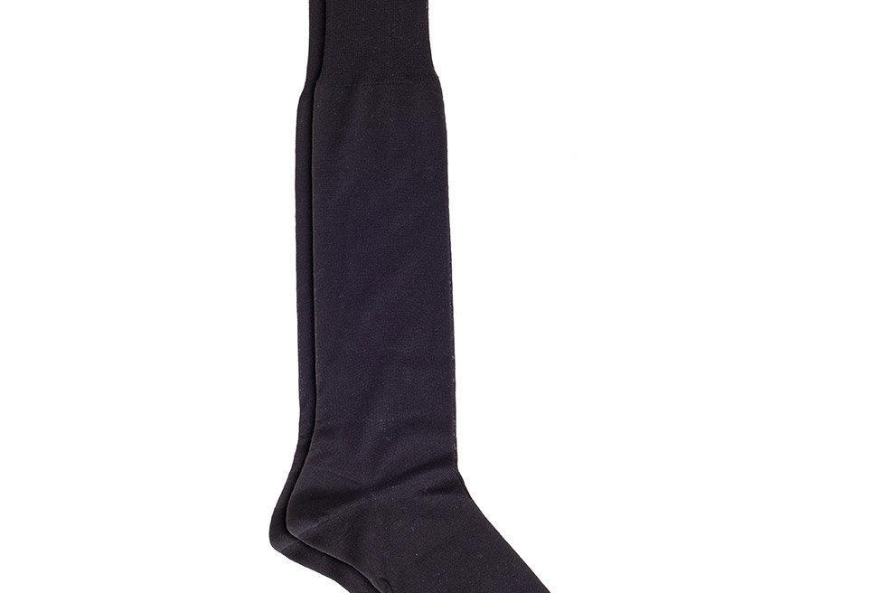 Calcetines caña alta de Hilo de Escocia de hombre Kiff Kiff negro