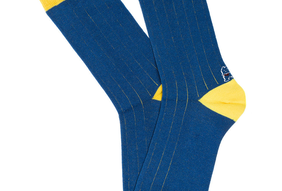 Calcetín media caña de mujer Kiff Kiff con falso canalé azul