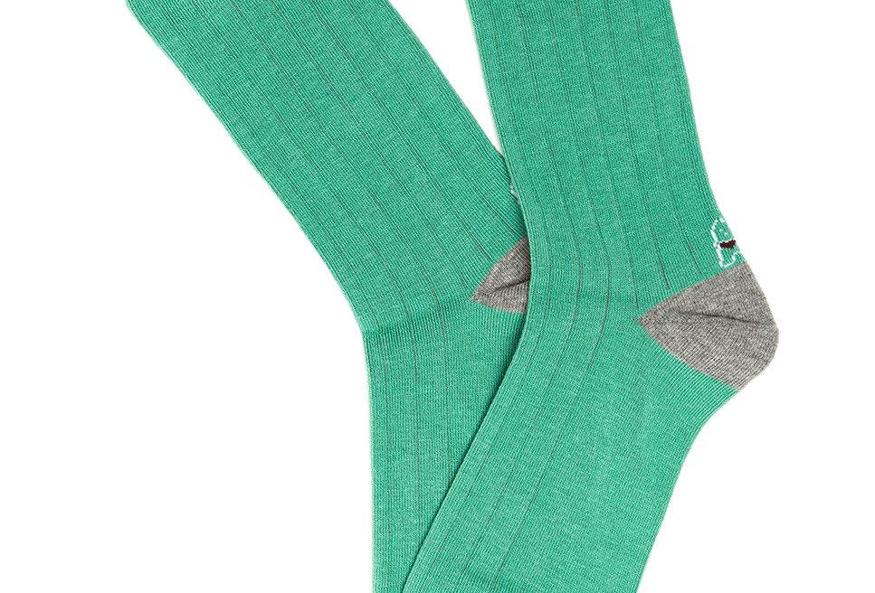 Calcetín media caña de mujer Kiff Kiff con falso canalé verde