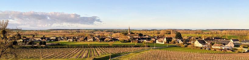 village de Panzoult vu du Domaine Hérault