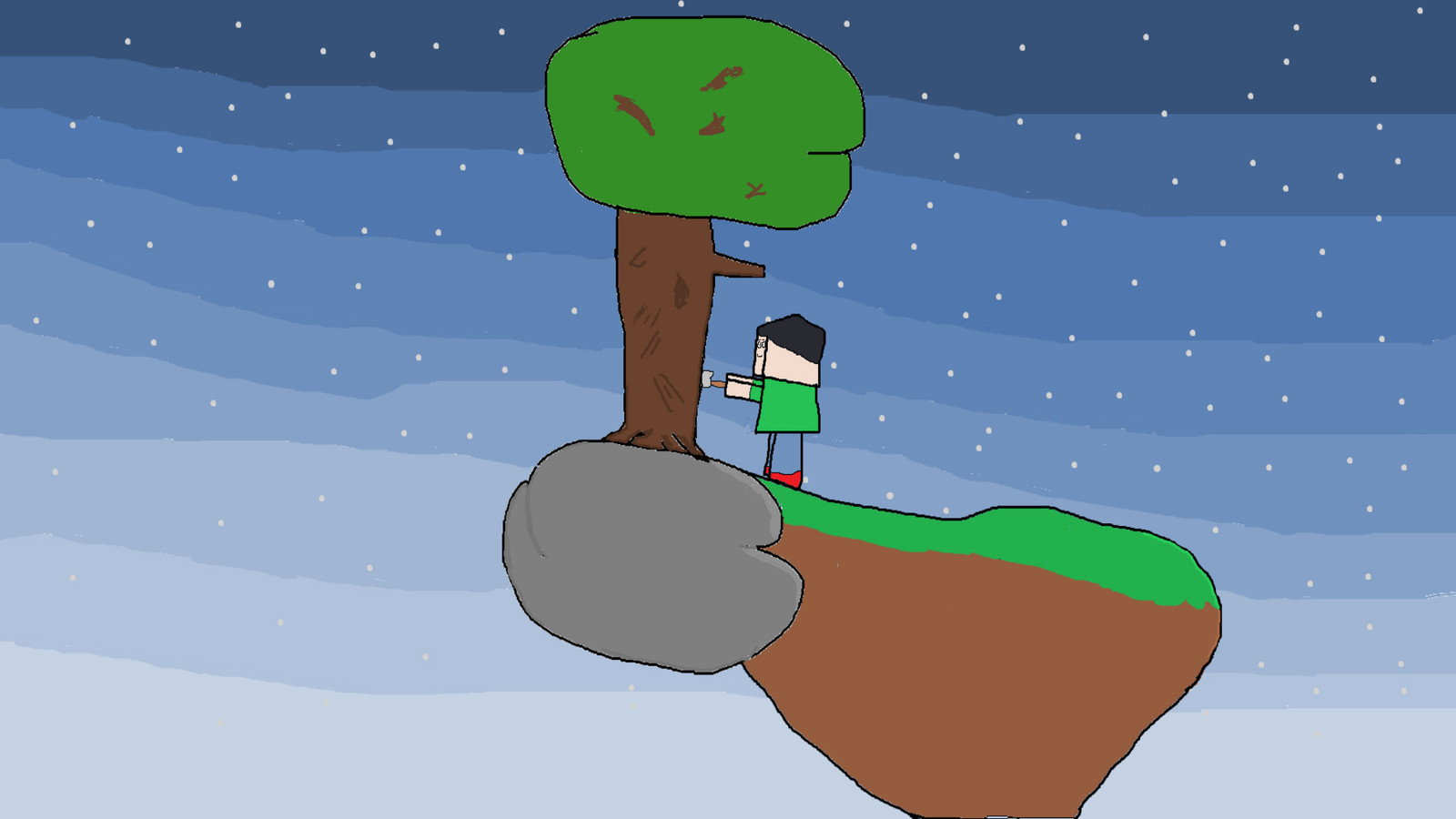 Minecraft Sky Island 2048x1152jpg