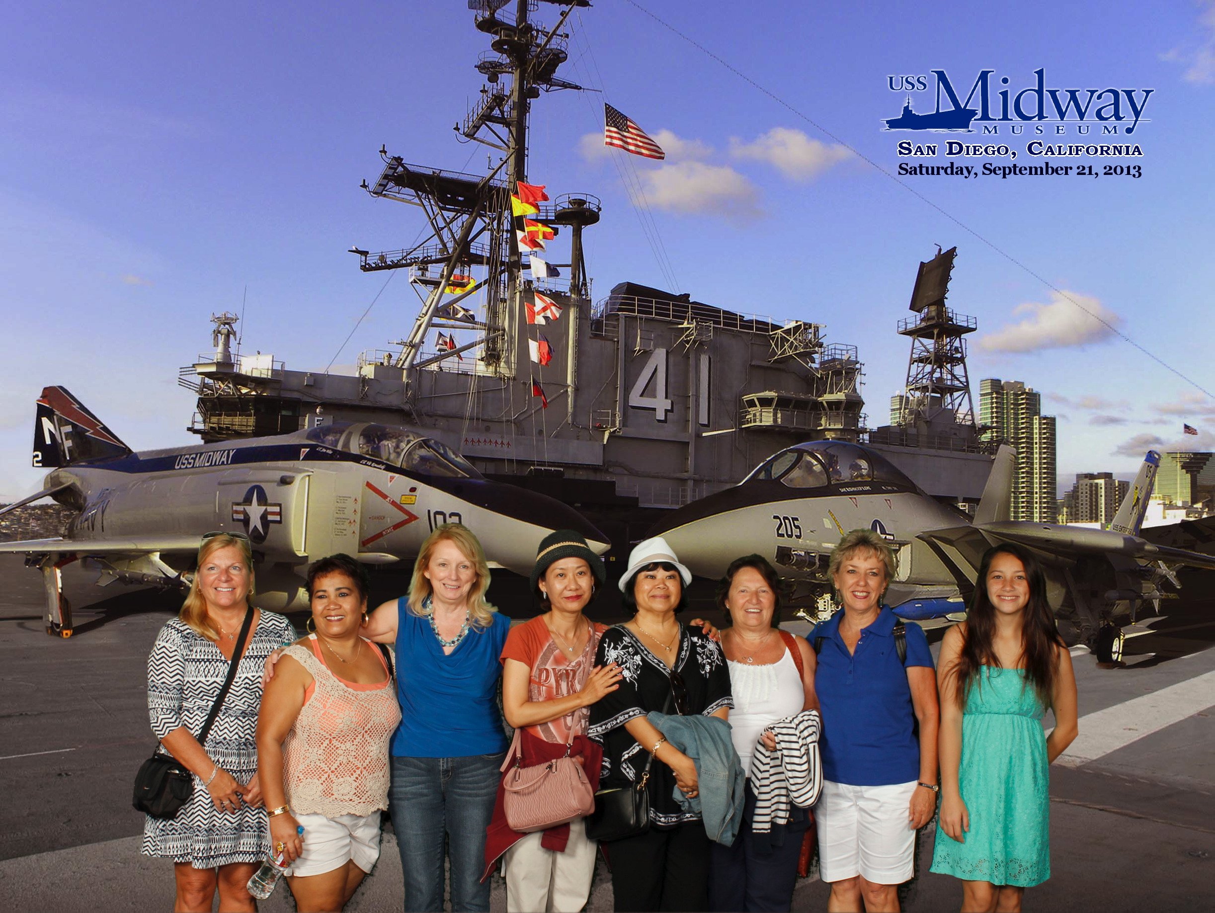 2013-09-21 MIDWAY SPOUSES(DECK)