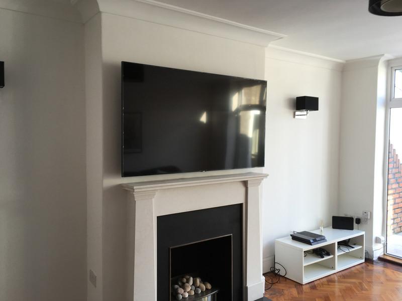 Professional TV wall installation