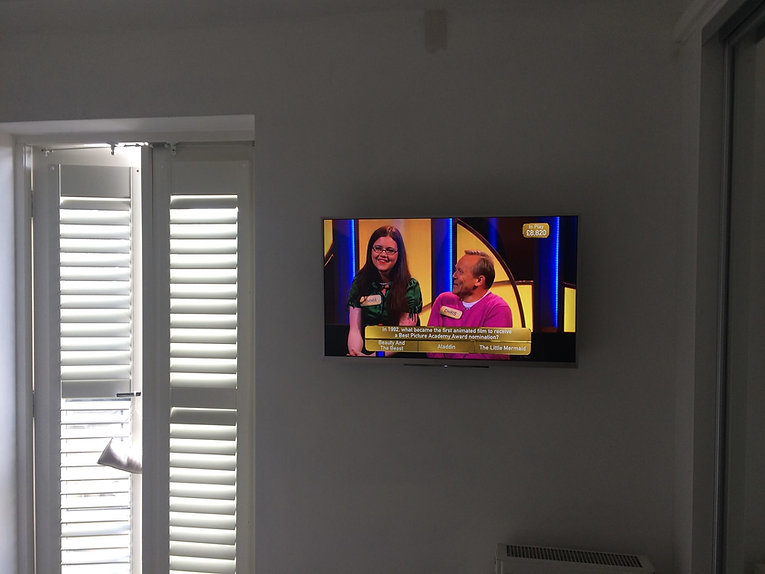 TV screen installation