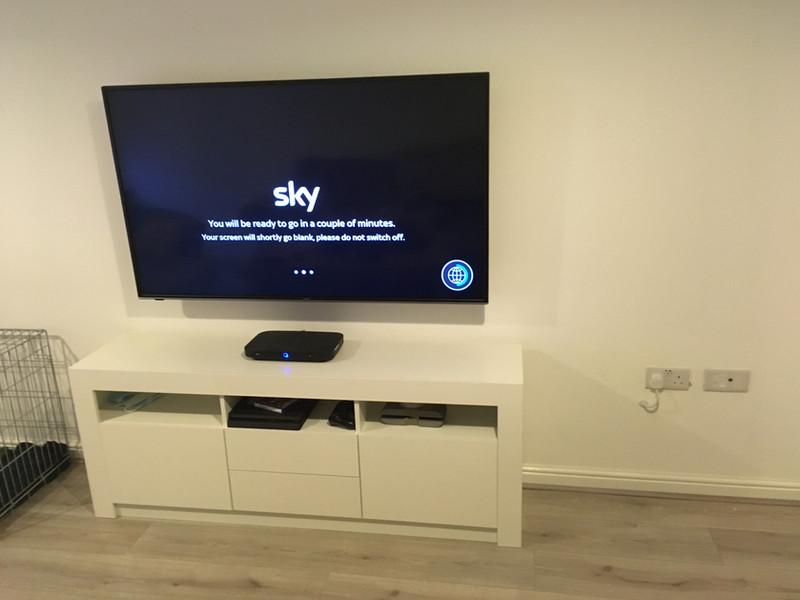 TV wall mounted in Swansea