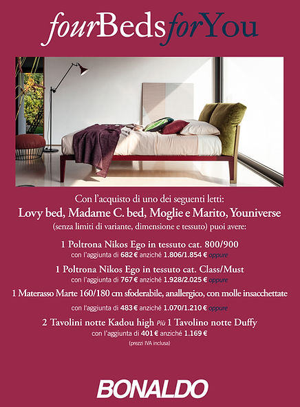 Bonaldo four Beds for You