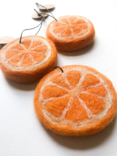 """Orange Slice"" Ornament"