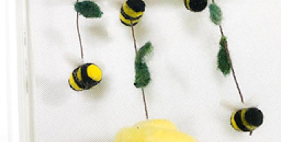 """Needle Felting Class """"Bee Mobile"""""""