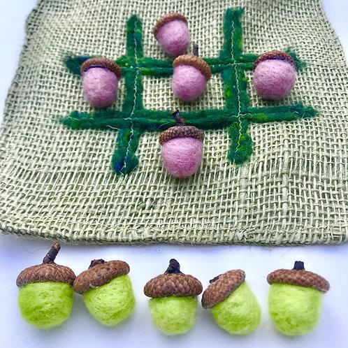 Tic-Tac-Toe Set: Acorns