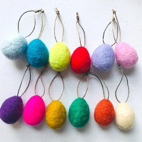 Egg Ornaments -Set of 12