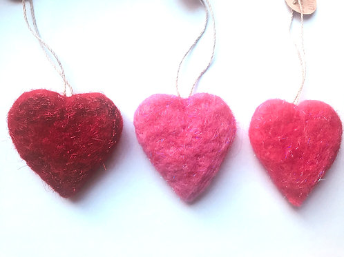 Sparkly Heart Ornament