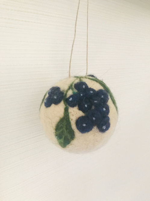 "Ball Ornament ""Maine Blueberries"""