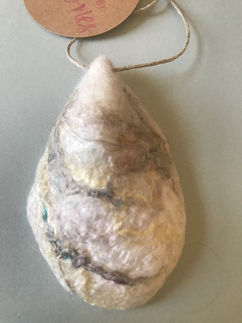 """""""Textured Pearl"""" Oyster Shell Ornament"""