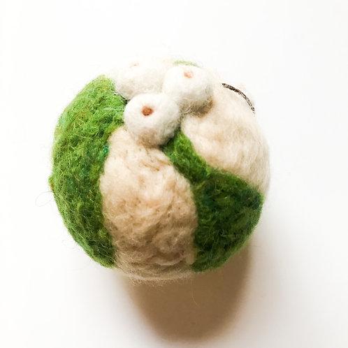 "Ball Ornament ""White Mistletoe"""