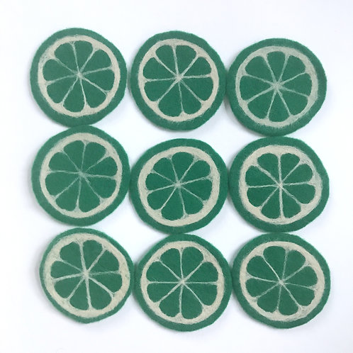 """Coasters """"Lime Slices"""""""