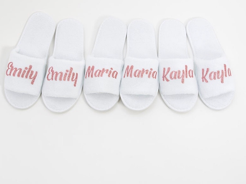 Custom Name Pink Slippers