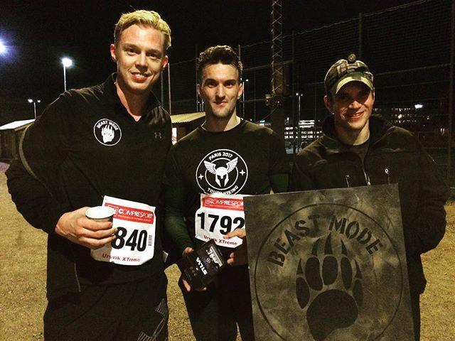 I dag deltog vi i Ursvik Extreme Night 7.5km. Teambuilding i mörkret