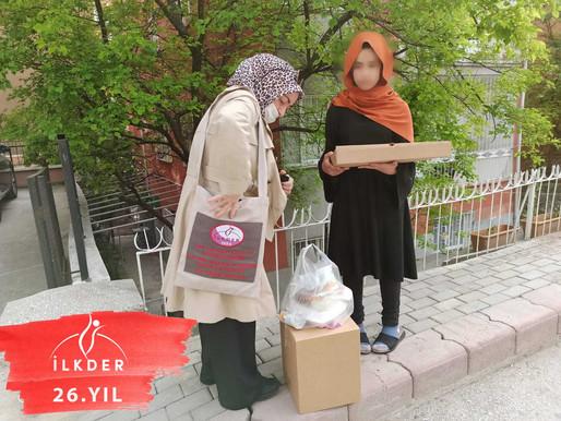 Bugün Türkmen ve Türk  ailelerimize ramazan yardımlarınızı ulaştırdık.