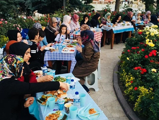 İLKDER' in gelenekleri arasına giren Hacı Bayram iftarımızı yaptık.