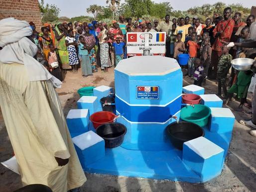 İLKDER liler olarak hayatlarına katkı sunmak üzere ÇAD da bir su kuyusu açtırdık.