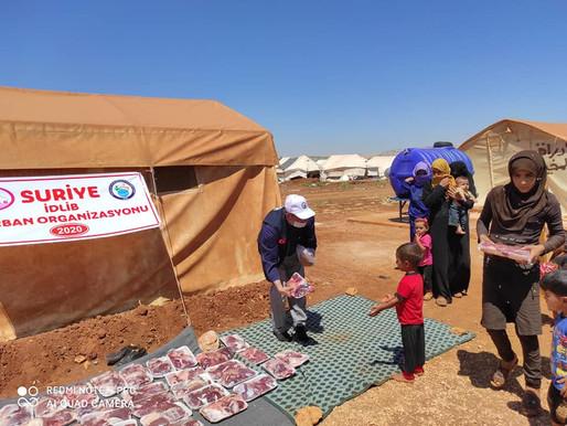 Kurban paylaşmaktır düsturuyla İLKDER olarak Suriye İDLİB' te siz hayırseverlerin katkılarıyla kurba