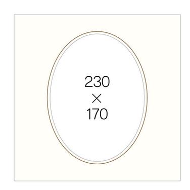 6切楕円(白)
