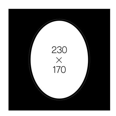 6切楕円(黒)
