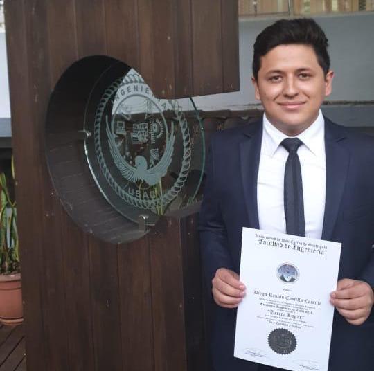 Diego Castillo, Reconocimiento a la Excelencia Académica, Ingeniería Mecánica Industrial (USAC)