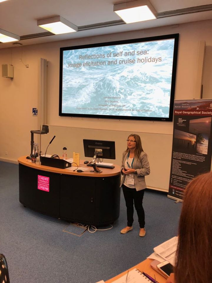 Presenting in London at the Royal Geographical Society